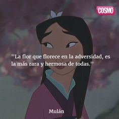 possible text that says COSMO La flor que florece en la adversidaYou can find Winnie the pooh and more on our website.possible text . Frases Tumblr, Tumblr Quotes, Life Quotes, World Disney, Disney Pixar, Disney Movie Quotes, Spanish Quotes, Disney Wallpaper, Disney Love
