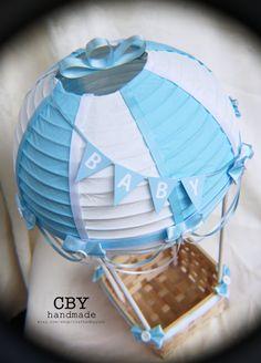 Aire caliente globo centro de mesa B-A-B-Y / / por CraftedByYudi
