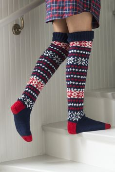 Amazing Photo of Crochet Knee High Socks Pattern – 2019 - Socks Diy Crochet Socks Pattern, Knitting Patterns, Knit Crochet, Fair Isle Knitting, Knitting Socks, Wool Socks, Knee High Socks, Fashion Socks, Knitting Accessories