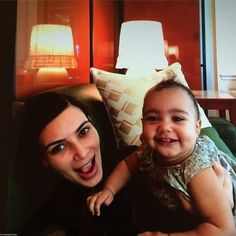 Kim Kardashian and her daughter North West