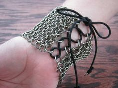 Chainmaille Stainless Steel LaceUp Cuff by CreativeReflections, $60.00