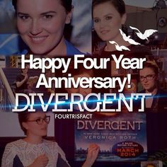 Veronica Roth wrote Divergent excatly 4 years ago... April 25, 2011 ^-^