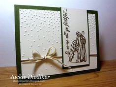 Jackie Diediker - Christmas - SU - Oh Come All Ye Faithful - nativity