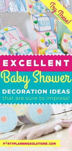 The theme for the shower should guide you in your decoration choices, but that doesn't mean you can't go a little rogue. These days there aren't any rules for what constitutes as a decoration for a baby shower, but we have some ideas that are pretty cute! Our extensive list of baby shower ideas for decor will help you plan your best party yet! #babyshower #partyideas #partyplanning #babyshowerideas #babyshowerdecorations #babyshowerdecorideas