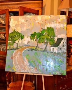 Emily Ozier's art at Mulberry Heights Antiques--colors of this one, Emmy