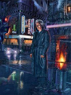 Blade Runner - Roy Batty by cyberpunk, future, cyber city, neon light, night city Daryl Hannah, Harrison Ford, Glam Rock, Blade Runner Poster, Roy Batty, Arte Cyberpunk, Cyberpunk 2077, Blade Runner 2049, Movie Posters