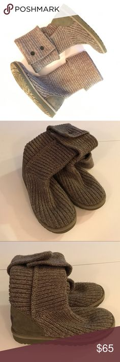 • UGG • classic cardi II Gently worn UGGS classic cardi II. Grey. Size 7. Great used condition- as seen in photos. Open to reasonable offers!  UGG Shoes Winter & Rain Boots
