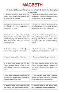 Macbeth paraphrase and sequence activity English Gcse Revision, Gcse English Literature, British Literature, Education English, Teaching English, Teaching Literature, Gcse Drama, Shakespeare Words, William Shakespeare