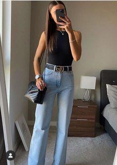 COMO USAR CINTO FEMININO e transformar o seu look, veja nele 5 cintos que podem te ajudar a ter um look diferenciado e estiloso. Clique para saber mais! #estilocasualfeminino #roupassimplesverao #loksanonovo #ideiasdelooks #modafeminina #lookestiloso #lookfashion #lookbasico #roupasfolgadas #lookdespojado #modafemininacasual Cute Casual Outfits, Chic Outfits, Spring Outfits, Fashion Outfits, Zara Fashion, Look Fashion, Zara Bodysuit, Halter Bodysuit, Bodysuit Outfit Jeans