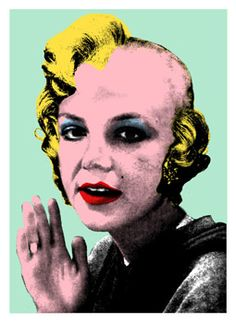Crazy Britney Spears as Marilyn, by Mr. Brainwash. Pop art.