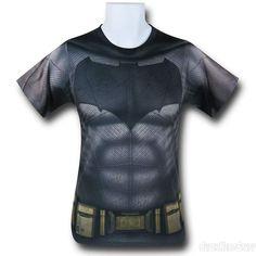 Batman Vs Superman Batman Sublimated Costume T-Shirt