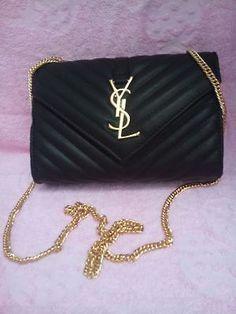 NEW YSL Wallet Shoulder Bag Black - branded bags sale, carry bag, best bags