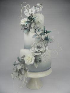 Fantasy flower wedding cake by Kim Wiltjer - http://cakesdecor.com/cakes/258285-fantasy-flower-wedding-cake