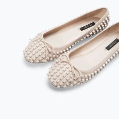 Image 4 of STUDDED BALLERINA FLATS from Zara