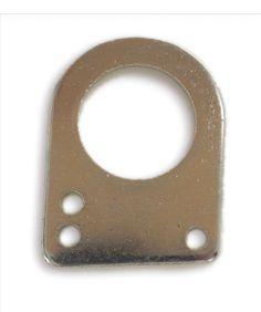 Anilla Cerrada. Anilla adaptable a muelles de tracción, para hacer la funcióm de estirar sin fatigar ni desgastar el muelle. Fabricado en Hierro ST37 y recubrimiento cincado.