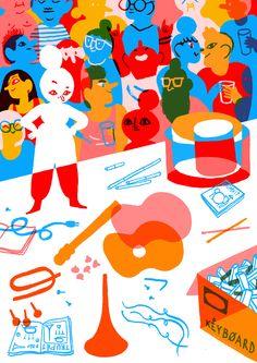 pixel-panda: ☼ ☼ ☼ Summer illustrations for the cultural supplement of De Morgen (belgian newspaper) ☼ ☼ ☼