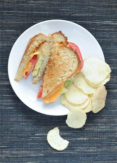 salt and vinegar grilled cheese