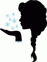 paní zima - vystřihnout, k dlani nalepit mnoho sněhových vloček, do kterých paní fouká