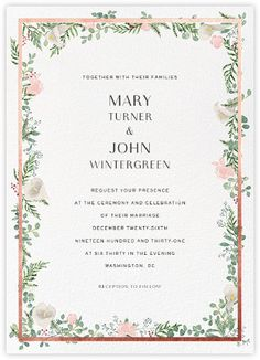 Beautiful, Custom Wedding Invitations From Paperless Post.