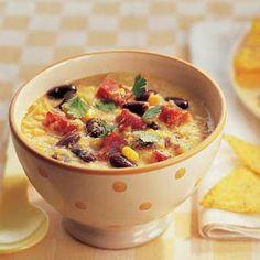 Recept - Spicy maissoep met kidneybonen - Allerhande
