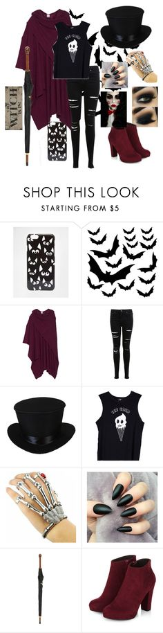 """Ready for Halloween "" by cloclo-brd ❤ liked on Polyvore featuring ASOS, Madeleine Thompson, Miss Selfridge, Valfré and Alexander McQueen"
