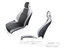 SEAT Leon ST Interior - Seat Design Sketch
