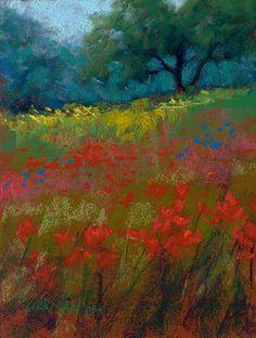 "Rita Kirkman's Daily Paintings: ""Wildflower Fields #31"""