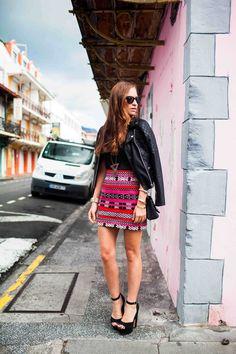 print skirt.