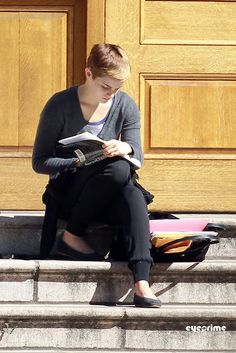 Emma Watson reading.