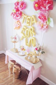 Tea for 2 Birthday Party Ideas Tea for Two, Party Idea, Toddler Birthday Party, Tea Party 1st Birthday Party For Girls, Second Birthday Ideas, Girls Tea Party, Princess Tea Party, Tea Party Theme, Girl Birthday Themes, Tea Party Birthday, Birthday Party Decorations, Garden Birthday