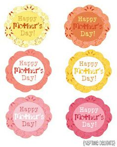 Free Printable Mother's Day Tags - Bing Images