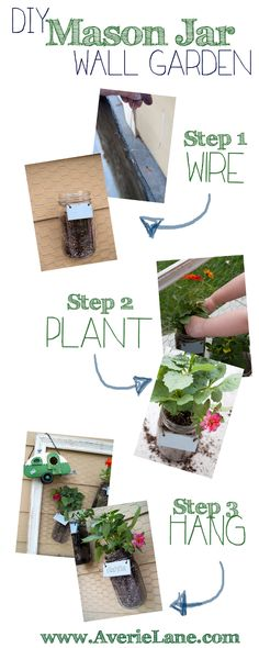 Mason Jar Hanging Garden :: Hometalk