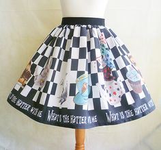 Mad Hatters Tea Party Skirt, Costume, Cosplay,Alice In Wonderland Costume, Mad Hatter Skirt, ROOBY LANE, Womens Costume