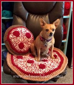Posh Pooch Designs Dog Clothes: Pizza Pillow Crochet Pattern | Posh Pooch Designs