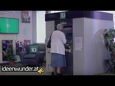 """Das dachte sich auch die TD Bank (Kanada) und verwandelte einen Bankomaten in eine """"Thanking Machine"""". Entstanden sind besondere Momente, die in diesem Video festgehalten wurden. Mit knapp 23 Mio. Views eine echtes Best Case für ein Viral Guerilla Marketing Video einer Bank. #finance #guerilla #marketing #guerillamarketing #viral #bankmarketing Viral Marketing, Guerilla Marketing, Canada, Guerrilla Marketing"""