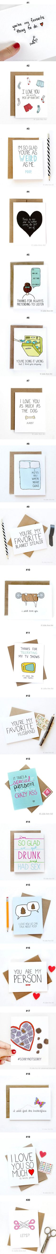 """Honest Valentine Cards For You If You Are Tired Of """"Romantic"""" Ones (By Julie Ann)"""
