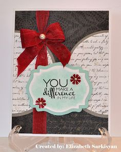 Card by Elizabeth Sarkisyan usign Verve Stamps.  #vervestamps