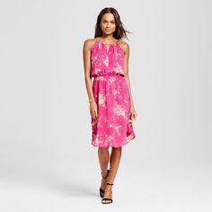 Women's Printed Halter Dress
