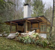 larameeee:    Tye River Cabin in Washington by Olson Kundig Architects; photo by Tim Bies