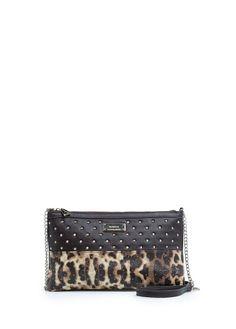 MANGO - Leopard panel shoulder bag