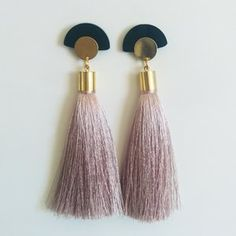 #silk #tassels #earrings #asian #style #suzywandeluxe #beige