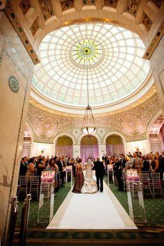 Chicago Cultural Center Wedding Glamour Elegant Estera Events Pinterest Weddings And