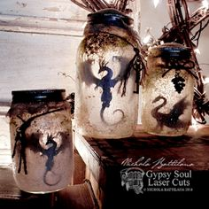 Smelly Dragon Jars with Tutorial - Nichola . -Rotten Smelly Dragon Jars with Tutorial - Nichola . Wine Bottle Crafts, Mason Jar Crafts, Mason Jar Diy, Crafts With Jars, Diy And Crafts, Crafts For Kids, Arts And Crafts, Geek Crafts, Diy Home Decor Projects