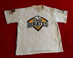 Junior Pittsburgh Pirates Baseball #18 Neil Walker White T-shirt Youth Size M #FruitoftheLoom #PittsburghPirates