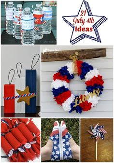 July 4th Ideas - 21 amazing DIY projects!