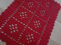 Resultado de imagem para tapetes de croche com flores