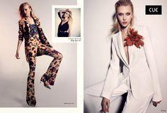 Fantasy Fashion Design: Juliana Schurig viste los elegantes diseños de Cue para este verano