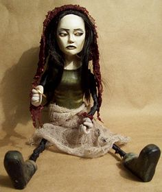"""Stephanie Alice Rogers  12"""" H  First completed art doll  2005"""