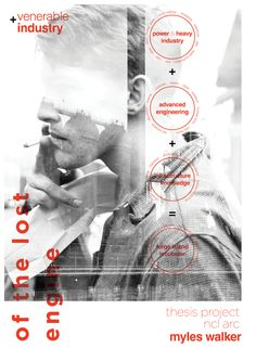 Thesis Posters by Myles Lockhart Walker, via Behance