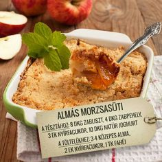 Almás morzsasüti